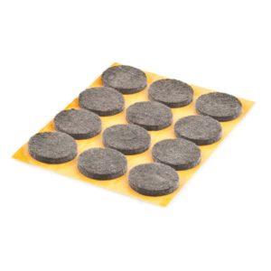 Fieltro Adhesivo 22mm. Redondo Marron