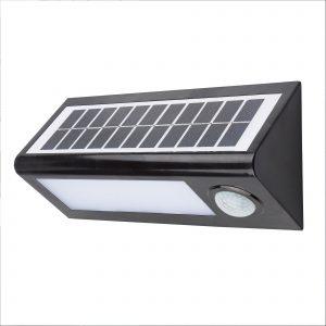 Aplique Led Solar Negro Sensor 27cm 8w
