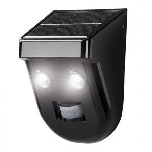Aplique Led Solar Negro Sensor 16cm 6w
