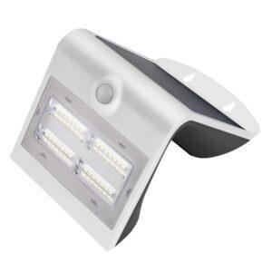 Aplique Led Solar Blanco Con Sensor 4 W
