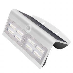 Aplique Led Solar Blanco Con Sensor 8 W