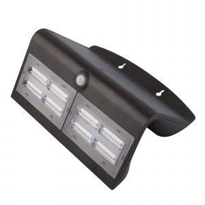 Aplique Led Solar Negro Con Sensor 8 W