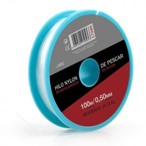 Hilo Nylon Blanco 0,7 Mm. 100 M.